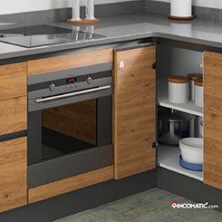 Rincoplus full access one door corner cabinet