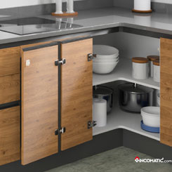 Rincoplus full access to the corner cabinet