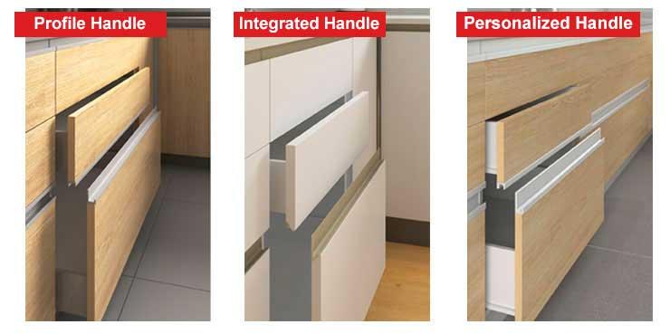 different kitchen handles