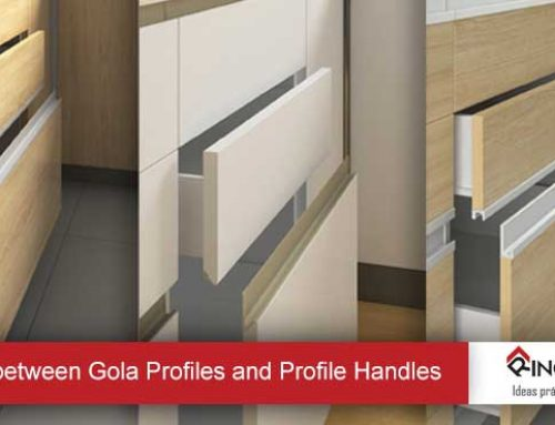Difference between Gola Profiles and Profile Handles for the opening of doors.