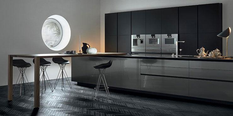 cuisine moderne couleur noire