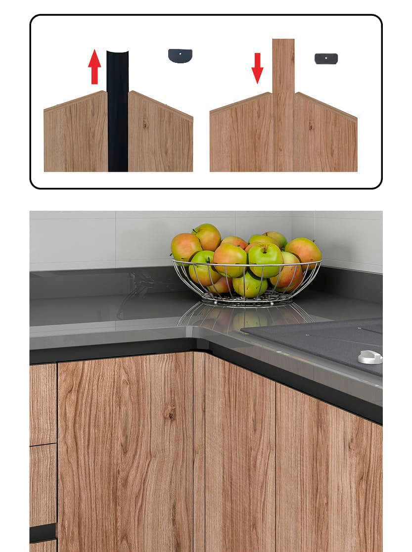 Customizable Corner HInge for L-shaped cabinets
